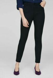 NEW WITH TAGS SAINSBURY'S TU BLACK STRETCH TREGGINGS TROUSERS. SIZE 16 short
