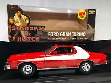 STARSKY & HUTCH ERTL '76 FORD GRAN TORINO STRIPED TOMATO, RED 1:18 DIECAST CAR