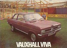 Vauxhall Viva HC 1256 & 1800 1972 Original UK Sales Brochure Pub. No. V2084
