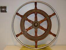 "Vintage 25"" Original SIMPSON LAWRENCE Ships Wheel Maritime Marine Boat Nautical"