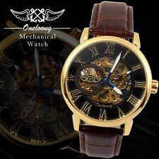 Oneloong skeleton mechanical watch winner automatic mechanical !!!