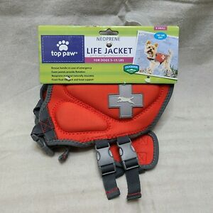 NEW NWT Top Paw Dog Life Jacket Vest X Small Red **BENEFITS ANIMAL RESCUE**
