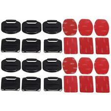 HOT 12pcs Curved+ Flat 3M Adhesive Mounts accessories For Gopro Hero 1/2/3/3+ WT
