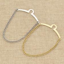 Vintage Mens Necktie Link Tie Chain Metal Tack Clip Clasp Gift Accessories 2 Pcs