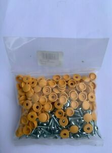Number Plate Screws / Yellow / Pack of 100