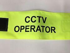 CCTV Operator Hi Viz Velcro Armband