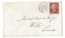 THURSO Duplex Postmark (324) 1861 Cover to James Burns, Writer, Thurso