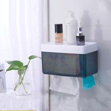 Toilet Tissue Paper Roll Storage Holder Case Waterproof Box Wall Mount Dispenser