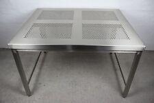 EDELSTAHL LABORTISCH REINRAUM TISCH V2A STAINLESS STEEL LAB TABLE 120x100x77 #6