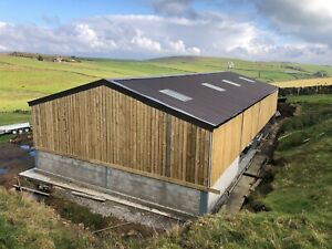 60ft x 30ft x 12ft Agricultural Building Shed Galvanised