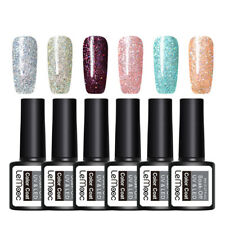 6Pcs LEMOOC 8ml Glitter UV Gel Polish Nail Art Soak Off UV LED Gel  #4