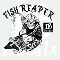 Fish Fishing Grim Reaper Skull Car Boat Anchor Truck Window Vinyl Decal Sticker