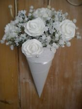 30x CHURCH PEW ENDS, WEDDING PEW ENDS,  LACE, HANGING DECORATION, WHITE/IVORY