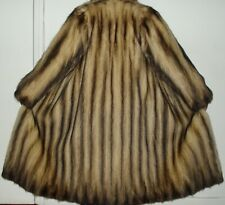 SORBARA Sable Fitch Fur Coat Size 4-6 Excellent Condition FREE SHIPPING