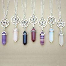 Agate Pentagram Hexagonal Necklace Pendant Jewelry Columns