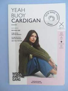Wool and the Gang Knitting Pattern booklet Yeah Buoy Cardigan