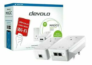 DEVOLO Magic 2 WiFi Next Powerline Starter Kit Twin Pack 4 Ethernet Ports