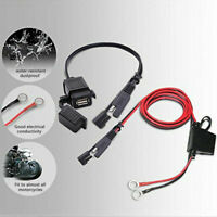 Waterproof 12V Motorcycle atv SAE to USB Phone Charger Adapter Inline Fuse New