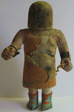 ANTIQUE HOPI PUEBLO INDIAN CARVED WOOD AND LEATHER KACHINA