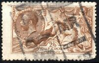 1915 Sg 406 N64/6 2s6d Yellow Brown De La Rue Good Used Parcel Cancellation