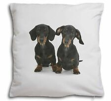 Two Cute Dachshund Dogs Soft Velvet Feel Cushion Cover With Inner Pi, AD-DU2-CPW