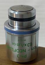 Zeiss Plan Neofluar 63x125 Oil Ph3 63x Phase Contrast Microscope Objective