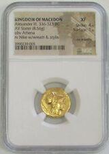 336-323 BC GOLD MACEDON STATER ALEXANDER III NGC XF 4/1