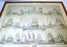 Vivide litografia firmata ANGELI EDITORE combats Naval Pressburger Livourne 1798