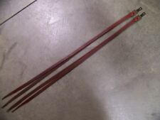 One Pair Leather Saddle Strings With Clip & Dee-Ring Hardware 1/2 Inch Wide