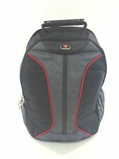 """New WENGER SWISS GEAR 16"""" Laptop Backpack - Black W/Red Piping"""