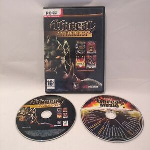 Unreal Anthology - Midway - Epic Games PC DVD ROM  + includes music CD