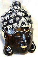 Bouddha en Bois Masque Statue 19 cm boudha Buddha bouda wooden budda peint