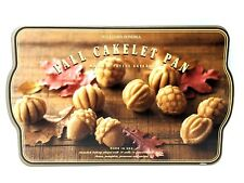 Williams Sonoma Fall Cakelet GT Nordic 24 Fall Shaped Cakelets Gold Tone