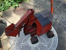 Vintage Antique Pressed Steel Buddy L  Crane Toy prototype - one off - folk art