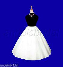 """17"""" FLOWER GIRL PAGEANT BRIDAL WEDDING GOWN DRESS PETTICOAT CRINOLINE SKIRT SLIP"""
