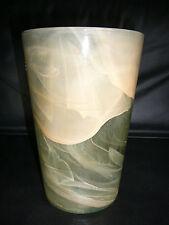 Design Glas Vase marmoriert schwer groß 25,5 cm Bodenvase