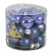 Christmas Tree Decoration Glass Baubles - Various Sizes & Colours