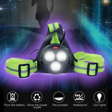 Outdoor Night Jogging Running Light Chest LED Lamp Warning Torch Light USB