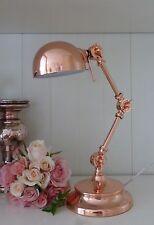 Schreibtischlampe Nostalgie Kupfer Rosegold verstellbares Gelenk Büroleuchte