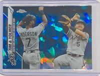 TIM & YOLMER CELEBRATE WIN 2020 TOPPS CHROME SAPPHIRE CARD #85 CHICAGO WHITE SOX