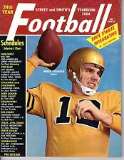 1964 Street & Smith's Football Yearbook magazine,Roger Staubach, Navy~ Very Good