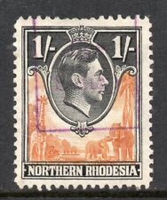 "1938 Northern Rhodesia S.G.40 1/- Yellow-Brown & Black Fine ""FEE STAMP"" Revenue"