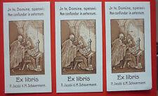 """Exlibris, Bookplate """"P. JacobiSchauermann"""" Tod, Mönch,"""