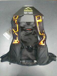 Nike Kiger Running Vest Size XL Black/Orange Trail Running With Bottles $185