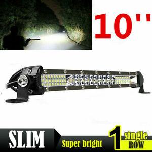Slim 10inch LED Light Bar Spot Flood Combo Work SUV Boat Offroad Driving ATV 4WD