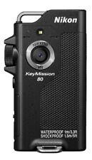 USED Nikon waterproof wearable cameras KeyMission 80 BK Black w KM80BK / KM80SL