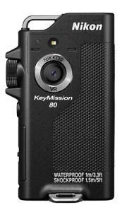 Nikon waterproof wearable cameras KeyMission 80 BK Black w/Track KM80BK / KM80SL