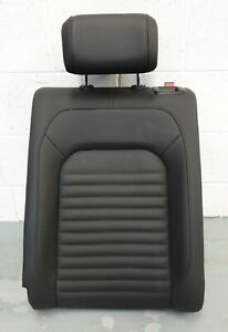 VW Passat Alltrack B8 3G Rear Seat Upper Left Back Black Leather PAT2
