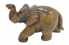 Tiger Eye Stone Elephant plain polishing Natural Gemstone Hand Carved