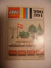 70' RARE anciene notice ORIGINALE instruction manual Lego System Legoland n°990